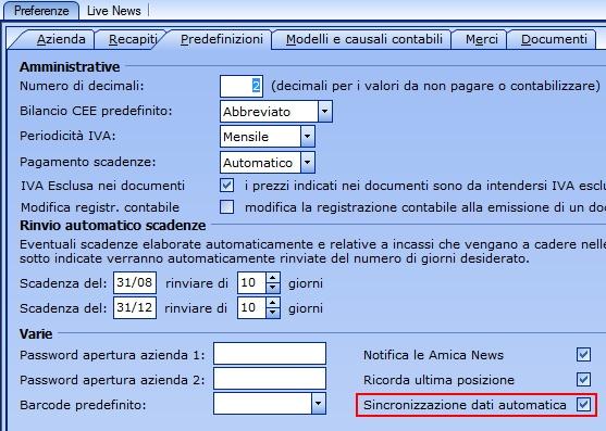 Opzione Personalizzata Pr : In arrivo la sincronizzazione dati personalizzata