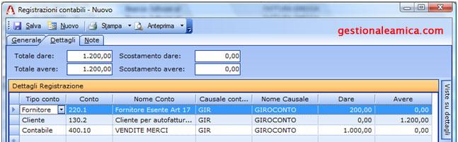 Reverse Charge - La registrazione contabile