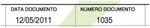 Numero e Data della Fattura