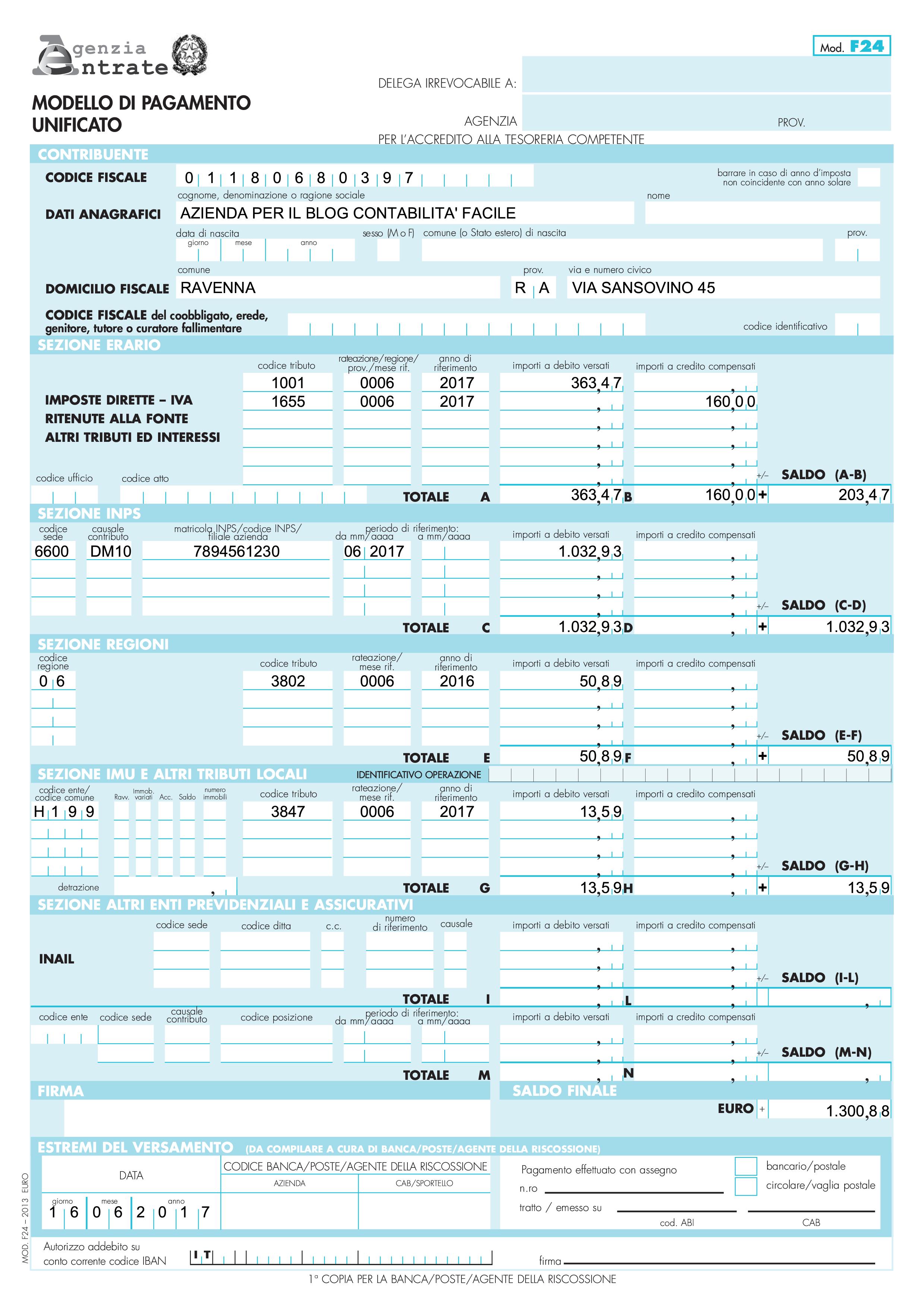 Registrazione contabile degli stipendi dei dipendenti for Pagamento irpef