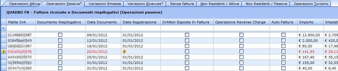 Spesometro 2013 - Convalida degli errori formali (click per ingrandire)